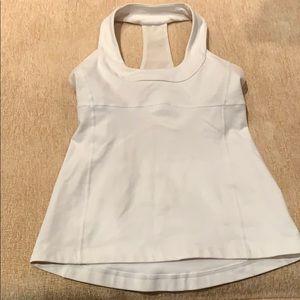 Women's Lululemom racerback white tank top